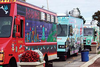Lineup of Food Trucks and Eateries